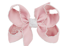 "Crochet Bow 5.5"" (Available in Light Pink or White)"