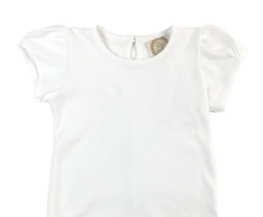 Pennys Play Shirt Short Sleeve Onesie - Worth Ave White