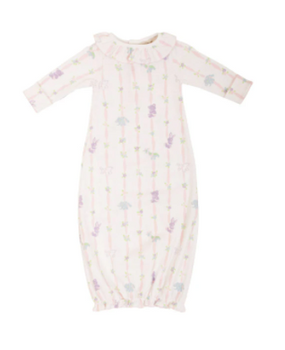 Ramona Ruffle Gown - Rockabye Ribbons/Palm Beach Pink