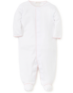 New Premier Basics Footie - White/Pink