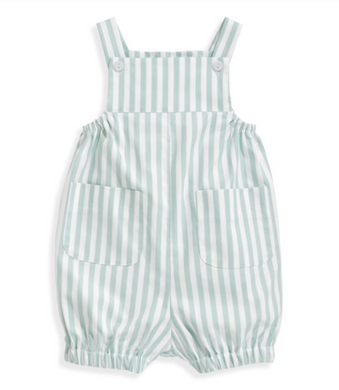 bella bliss Harrison Romper - Green Wide Stripe