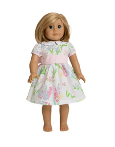 Dolly Cindy Lou Sash Dress - Belvedere Blooms/Palm Beach Pink