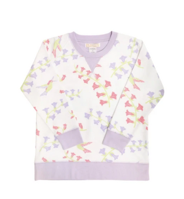 Cassidy Comfy Crewneck Girls French Terry - Harbour Island Hummingbird