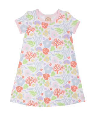 Polly Play Dress - Bimini Botanical/Palm Beach Pink