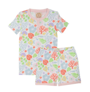 Sara Janes Short Set - Bimini Botanical/Palm Beach Pink