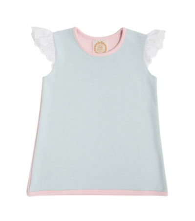 Sleeveless Polly Play Shirt - Buckhead Blue/Palm Beach Pink
