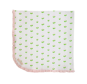 Baby Buggy Blanket - Old Town Tulip/Palm Beach Pink