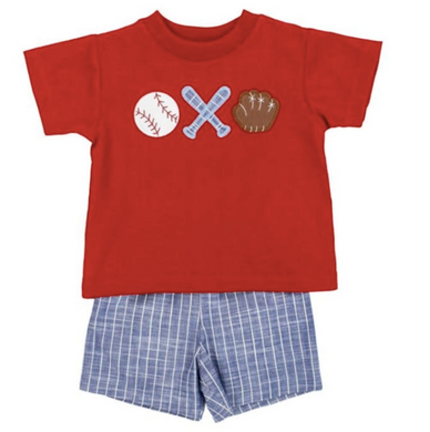 BASEBALL TRIO BOYS SHORT SET