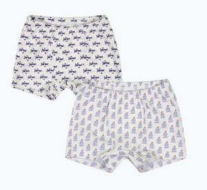 James - Boy's Boxer Brief Package (Set of 2) - Nantucket Sails/Summer Soaring