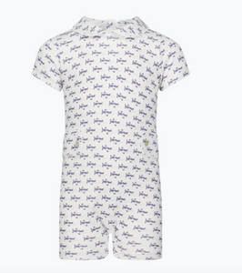 Henry Boys Peter Pan Collared Shortall - Summer Soaring