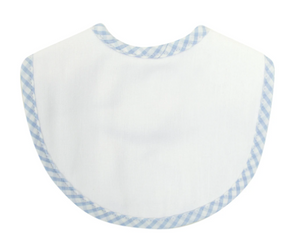 BLUE CHECK BURP CLOTH BIB