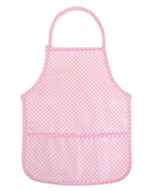 LAMINATED APRON PINK CHECK