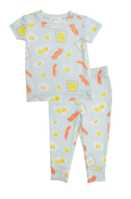 Blue Bacon And Eggs Lounge Wear Set