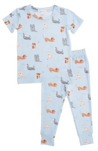 Blue Puppy Play Lounge Wear Set