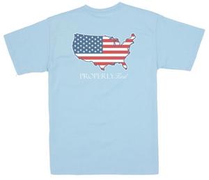 LD Old Glory SS Powder Blue Shirt