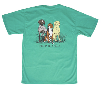LD Triple Dog SS Soft Green Shirt