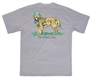 LD American Pup SS Light Heather Grey Shirt