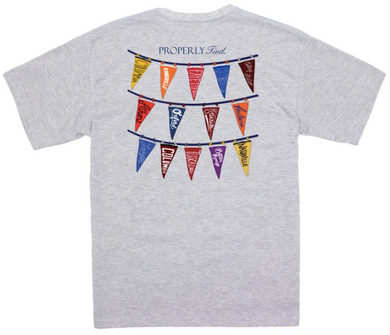 LD Classic Pennants SS Light Heather Grey Shirt