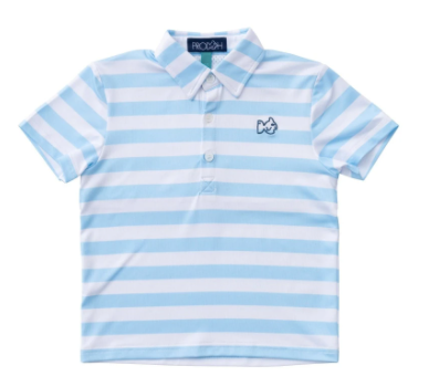 PERFORMANCE POLO IN ARCTIC STRIPE