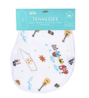 Tennessee Baby 2-in-1 Burp Cloth and Bib