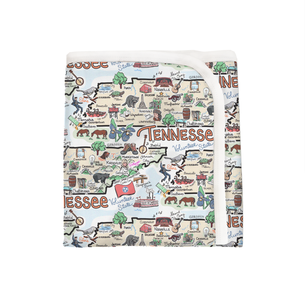 TN Map Baby Blanket