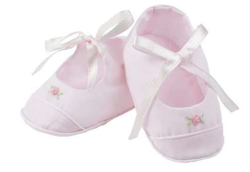 Girls Rose Garden Ribbon Booties