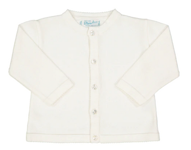 Classic Knit Cardigan - White