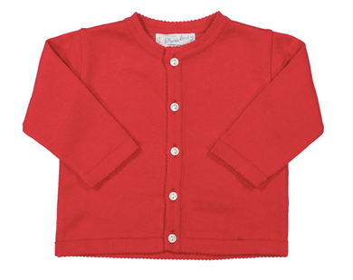 Classic Knit Cardigan - Red