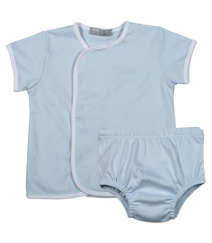 BLUE PIMA DIAPER COVER SET