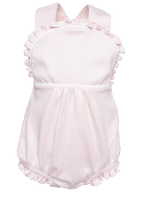 Eloise - Girls Sleeveless Criss Cross Bubble (Light Pink)