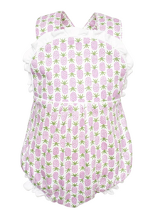 Eloise - Girls Sleeveless Criss Cross Bubble (Pineapples)