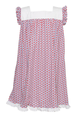 Caroline - Woven Panel Sleeveless Dress (Firecrackers)