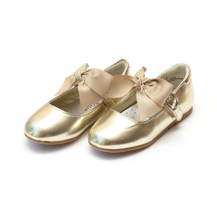 L'amour Carlita Special Occasion Bow Flat - Gold