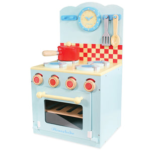 Wooden Oven & Hob Blue