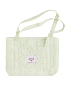 Quilted Luaggage Tote Watermelon