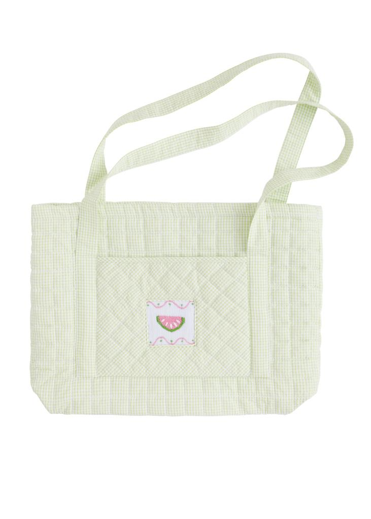 Quilted Luggage Tote Watermelon