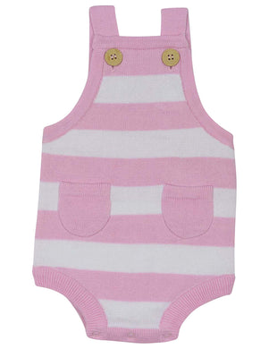 Chirpy Bird Knit Sunsuit - Pink
