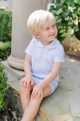 Henry Boys Peter Pan Collared Shortall - Stripes Line Up