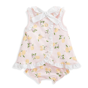 bella bliss Clara Pima Bloomer Set - Pink Lemons