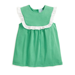 bella bliss Pearl Ruffled Pima Blouse - Green