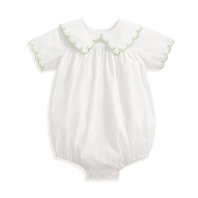 bella bliss Frazier Embroidered Bubble - White w/ Green
