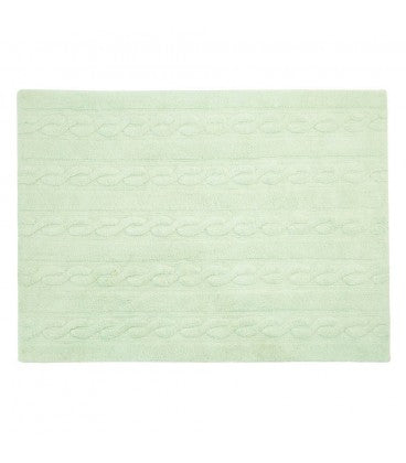 Braids Soft Mint Rug