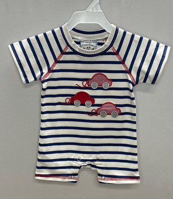 Beep Beep Applique Boys Romper