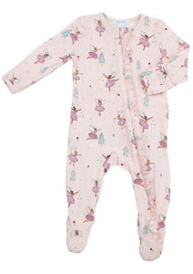 Sugarplum Fairies Zipper Footie