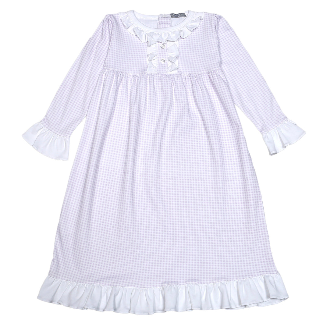 PURPLE GINGHAM PIMA NIGHT GOWN