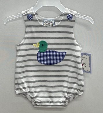 Duck Applique Boys Bubble