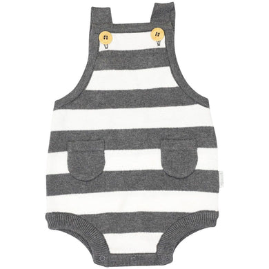 Whale Knit Sunsuit - Grey