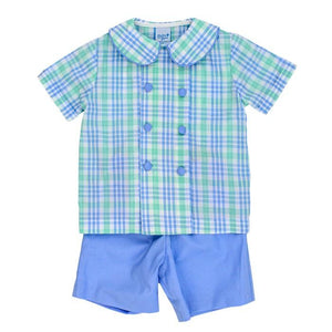 Dressy Short Set - Watercolor Plaid