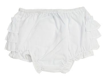 Ruffle Diaper Cover - White