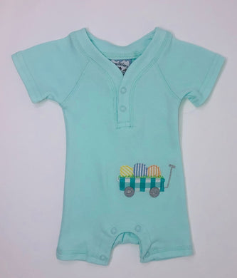 Egg Wagon Boys Applique Romper